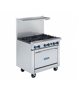 Restaurant Range, Gas, (6) lift off top burners with oven