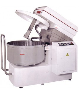 Spiral Mixer can handle 128kg / 282 lbs of dough, Two speed motor