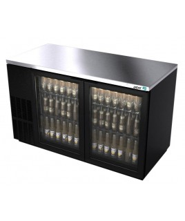 2 Glass Door Back Bar Refrigerator