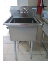 Sink, One Compartment, with faucet