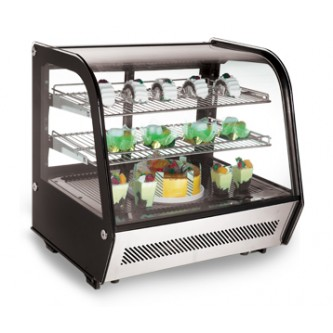 Countertop Refrigerated Showcase, Curved Crystal (89cm)