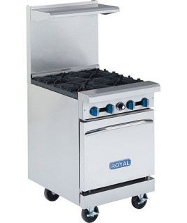 Restaurant Range, Gas, (4) lift off top burners with oven