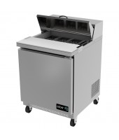 "Asber - 27"" 1 Door Sandwich Prep Table"