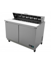 "Asber - 48"" 2 Door Sandwich Prep Table"