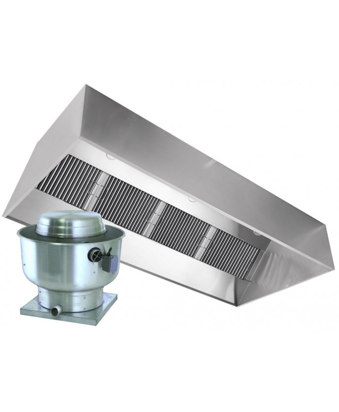 """Restaurant Kitchen Hoods Stainless Steel 92"""" (233.7cm) stainless steel grease extractor"""