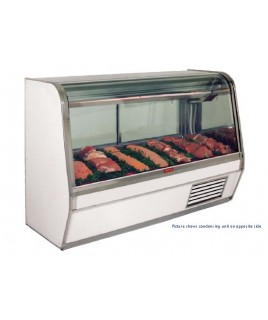 Curved Glass Refrigerated Red Meat Display Case