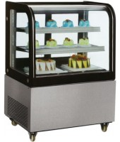 "Countertop Curved Crystal Refrigerated Showcase for repostery and salads (36"")"