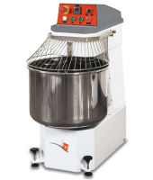 Spiral Mixer can handle 50 kgs (110 lbs) of dough, Two speed motor