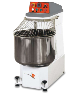 Spiral Mixer can handle 40 kgs (88 lbs) of dough, Two speed motor