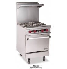 Restaurant Range, Gas, (4) lift off top burners with oven Therma-Tek